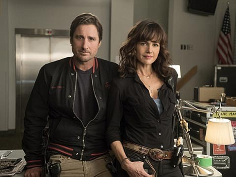<strong>ON THE ROAD:</strong>  Luke Wilson and Carla Gugino star in Cameron Crowe's new Showtime series, Roadies.
