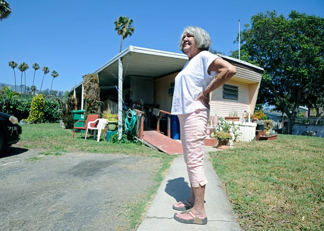 <b>NOW WHAT? </b> With news that the Flamingo Mobile Home Park was up for sale, resident JoAnn Garrett worried she'd lose her home of 54 years.