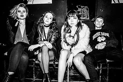 <strong>NO REGRETTES:</strong> Lydia Night (second from right) says her band is all about being true to yourself and your beliefs, no matter what others think.