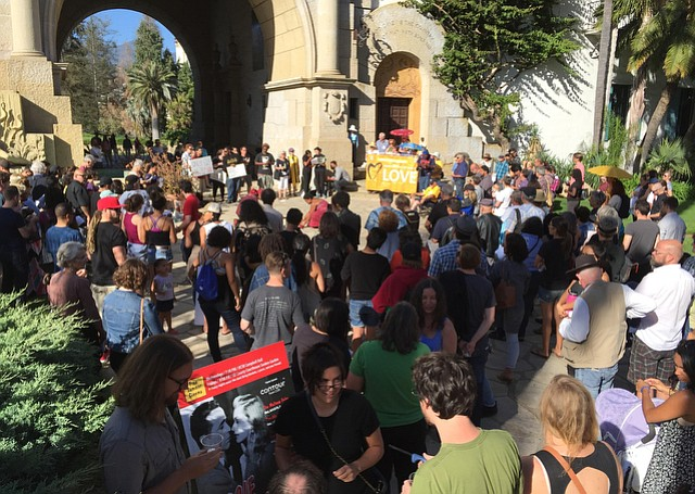 Santa Barbara vigil for Alton Sterling and Philando Castile. (July 12, 2016)