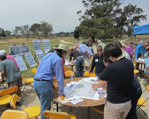 Planning workshop participants laid out what they hoped to see when the restoration of UCSB's 136-acre North Campus Open Space — which includes the former Ocean Meadows Golf Course — is completed.