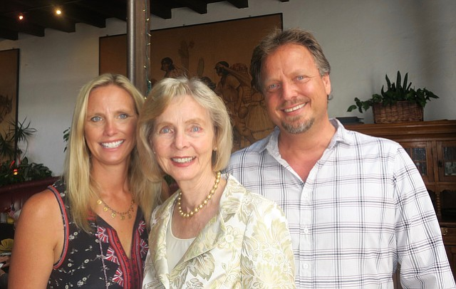 Congresswoman Lois Capps (center) with her daughter Laura and son Todd.