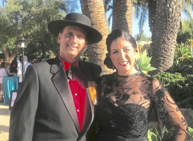 Old Spanish Days El Presidente J.C. Gordon and his wife Jamie.