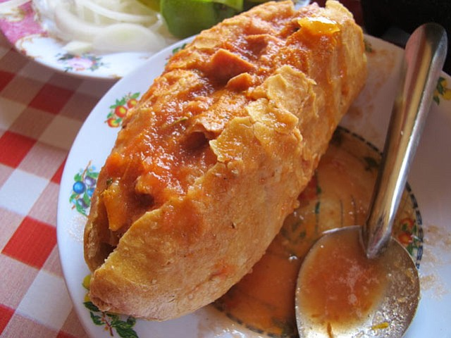 "<b>MUY AUTHENTIC:</b> Santa Barbara's tamale expert recommends searching out a torta ahogada, or ""drowned sandwich."""