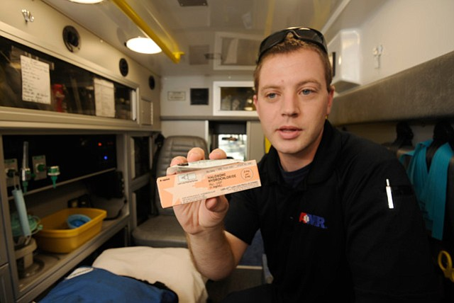 <b>LIFESAVER:</b>  Paramedic Jimmy Dane estimates he administers heroin antidote naloxone three or four times a month.