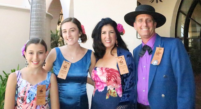 El Presidente J.C. Gordon, his wife Jamie, and their daughters Avianna (far left) and Olivia.