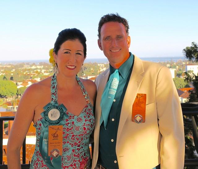 El Presidente J.C. Gordon with his wife Jamie in the Clock Tower.