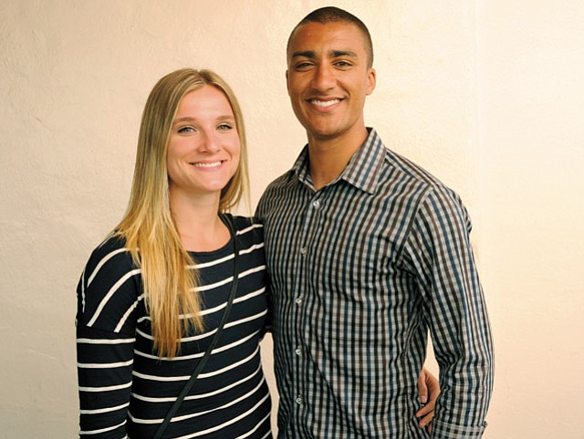 TRACK AND FIELD OF DREAMS: Pictured training at Westmont, Brianne Theisen-Eaton and Ashton Eaton head to the Rio Olympics to compete in the heptathlon and decathlon, respectively.