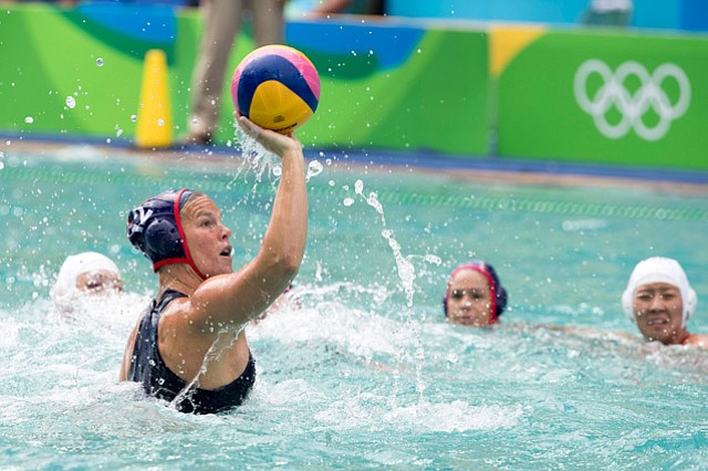 <b>GOLDEN GIRLS:</b> Kami Craig (12) has won a silver and two gold medals in her three Olympic appearances with the U.S. women's water polo team. Kiley Neushul (8) scored a game-high three goals as the U.S. trounced Italy 12-5 in the gold-medal game at Rio.
