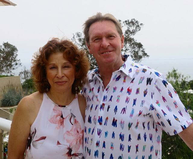 Executive director Ellen Goodstein with Dr. David Kerr, director of research and innovation.