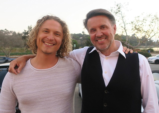 Executive producer and host Monte Wilson (right) with host Elijah Allan-Blitz.