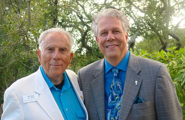 SEE International founder Dr. Harry Brown with President and CEO Randal Avolio.