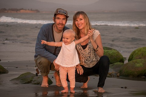 <b>DAWN OF HEALING:</b>  The author is participating in this year's Friendship Paddle, which leaves from the Channel Islands at dawn on Saturday, to honor his friend and colleague Ethan Stewart, pictured with his wife, Anna, and daughter, Sawyer.