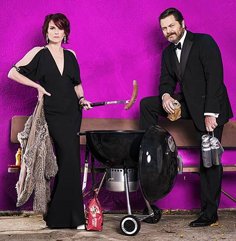 <strong>DROLL DUO: </strong>Expect campy songs, ribald humor, and lots of laughs as Megan Mullally and husband Nick Offerman give us a peek behind the curtain of their union.