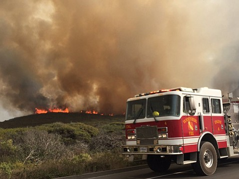 Vandenberg Air Force Base now has three fires burning, with a new start Friday afternoon.