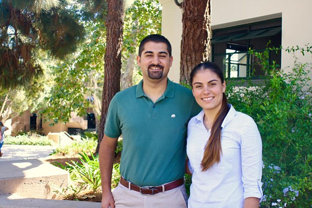 Juan Zepeda and Ana Isabel Espinoza-Agundis receive Great Minds in STEM awards.