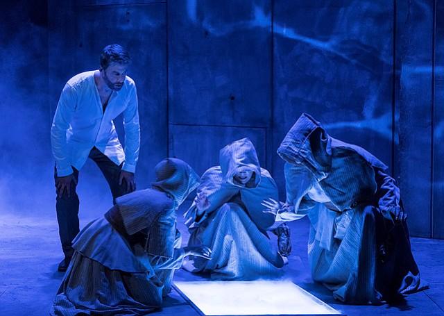 Jamison Jones, Christine Sage, Kathryn Meisle, and Leslie Gangl Howe in <i>Macbeth</i>.