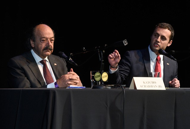Katcho Achadjian (left) and Justin Fareed
