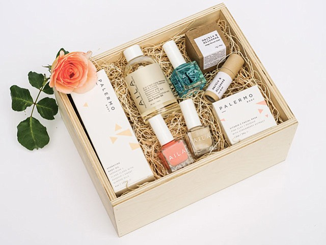<b>BUNDLE IT UP: </b>Phyla founder Carolina Law  lets you make your own sleek gift basket or choose from existing packages