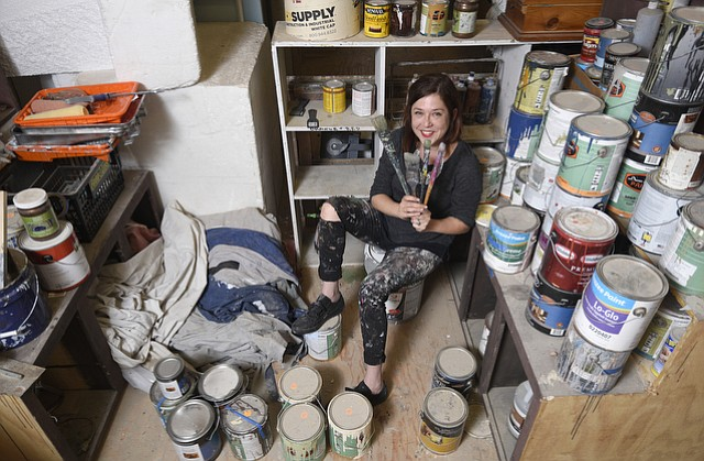Ingrid Luna at her studio