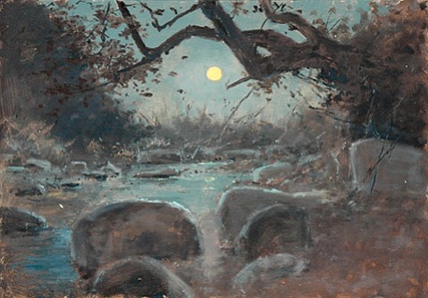 """Full Moon and Running Creek"" by Lockwood De Forest"