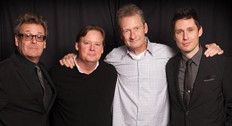 from left: Greg Proops, Joel Murray, Ryan Stiles, and Jeff B. Davis