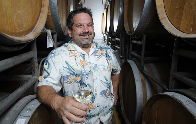 Tyler Tomblin at Santa Barbara Winery