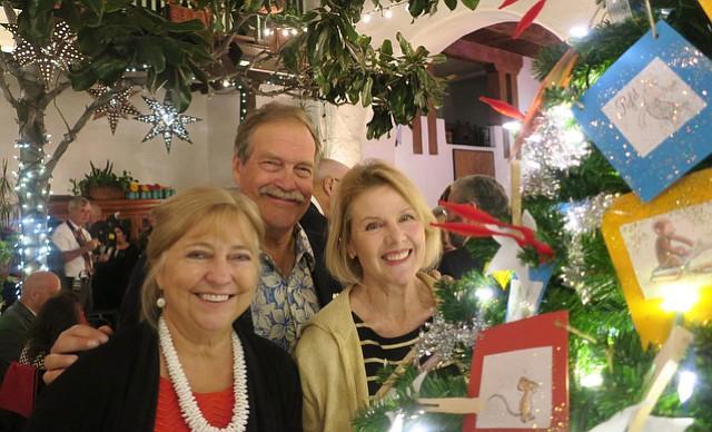 Executive director Lynn Brittner, Scott Burns, and event chair extraordinaire Lisa Burns.