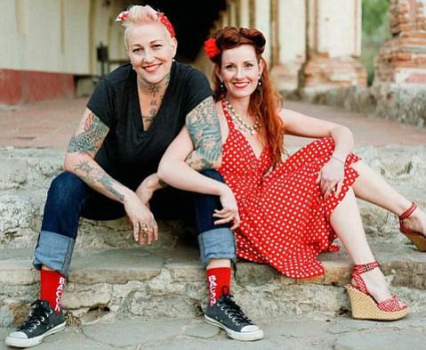 "Crystal ""Chef Pink"" DeLongpré (left) and Courtney Rae DeLongpré"