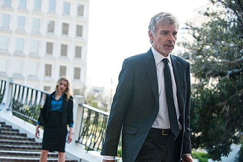 <strong>IRON GIANTS:</strong>  Billy Bob Thornton is a disgraced lawyer seeking redemption and revenge in Amazon's drama <em>Goliath</em>.