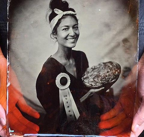 """<b>PIE MAKER IMMORTALIZED:</b> Upon winning last year's Best in Show crown, Melissa Bishop had a tintype photograph taken by Lindsey Ross of La Chambre Photographique (<a href=""""http://www.lachambrephotographique.com"""">lachambrephotographique.com</a>)."""