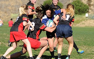 <b>RUGGED WOMEN:</b> The Santa Barbara Mermaids had Olympic team captain Kelly Griffin on their side during a rugby match against San Luis Obispo last Saturday.