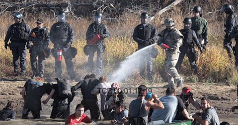"""A still from clips of <em>From Wounded Knee to Standing Rock</em>, which can be accessed <a href=""""https://vimeo.com/195237912"""">here</a>."""