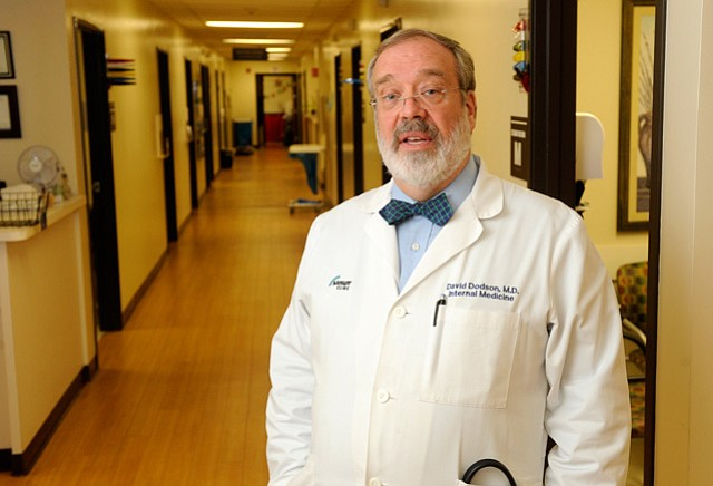 <b>NO SUPPORT:</b> Dr. David Dodson opposes Dr. Tom Price's nomination as Health Secretary, asking what will replace the Affordable Care Act for patients.