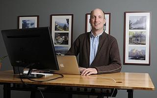 Ken Saxon at his Santa Barbara office.