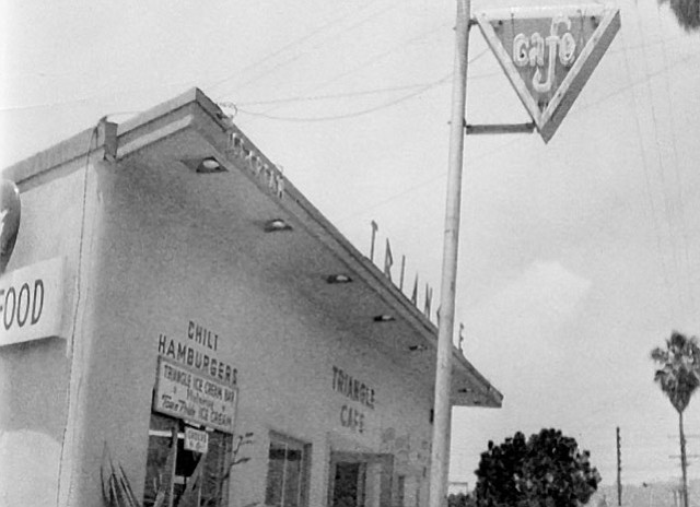 <b>THE AULD TRIANGLE:</b> Jim Branigan operated the old Triangle Café on North Milpas Street (above) with his wife, Roma.