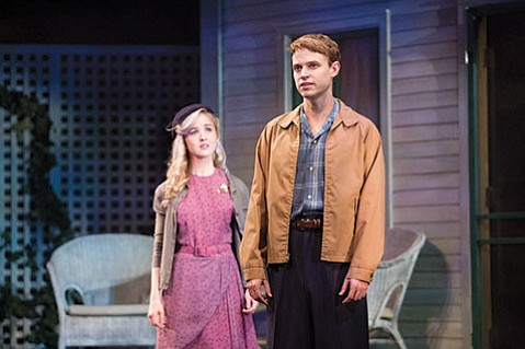 Lily Nicksay (left) and Erik Odom reprise their roles for this third play in the Nibroc series.