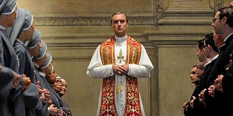 <strong> POPE IMPIOUS:</strong> Jude Law stars as a power-mongering pope in writer/ director Paulo (<em>The Great Beauty</em>) Sorrentino's limited series on HBO.
