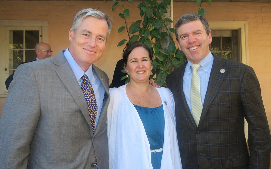 Outgoing Board Chair Barrett O'Gorman, President and CEO Candace Winkler, and incoming Board Chair Don Logan.