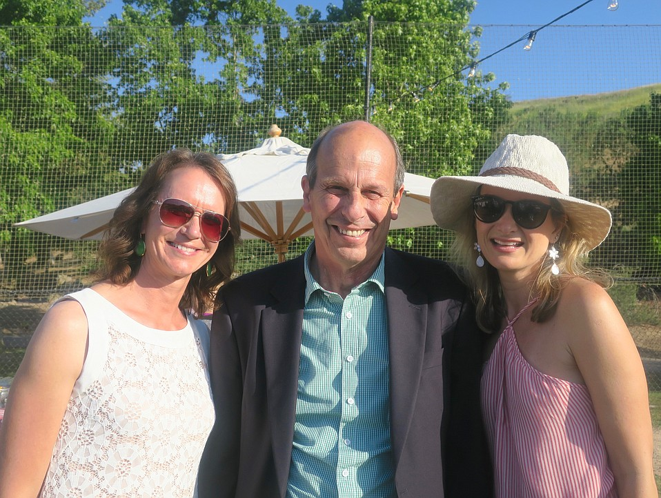 Weddings and Events Coordinator Jen Weeks, Executive Director Mike Nelson, and Director of Operations Mari Baker.