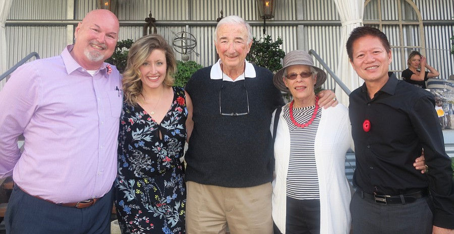 Event Chair and Associate Director Development and Volunteers JB Bowlin, Regional Director Tessa Madden Storms, Administrative Boardmember and Advisory Boardmember  Ron Fox, Carole Fox, and Executive Director Joel John Roberts.  The Foxes were among the founders of PATH.