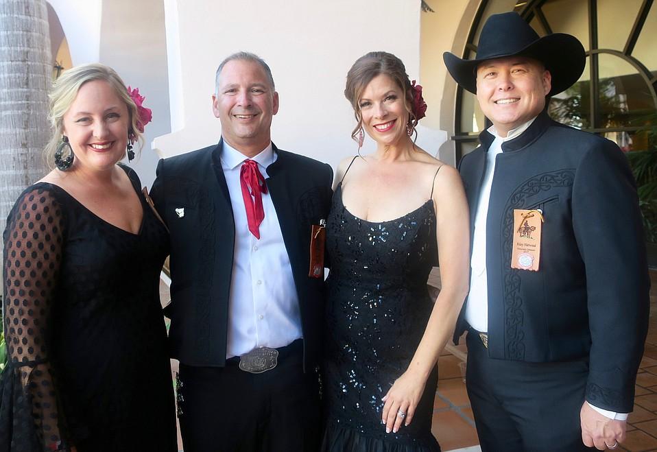 Honorary Director Dacia Harwood, El Primer Caballero Ben Feld, La Presidente Rhonda Ledson Henderson, and Honorary Director Riley Harwood.