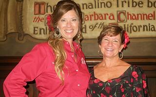 La Presidente Rhonda Ledson Henderson and Board President Jan Ferrell.