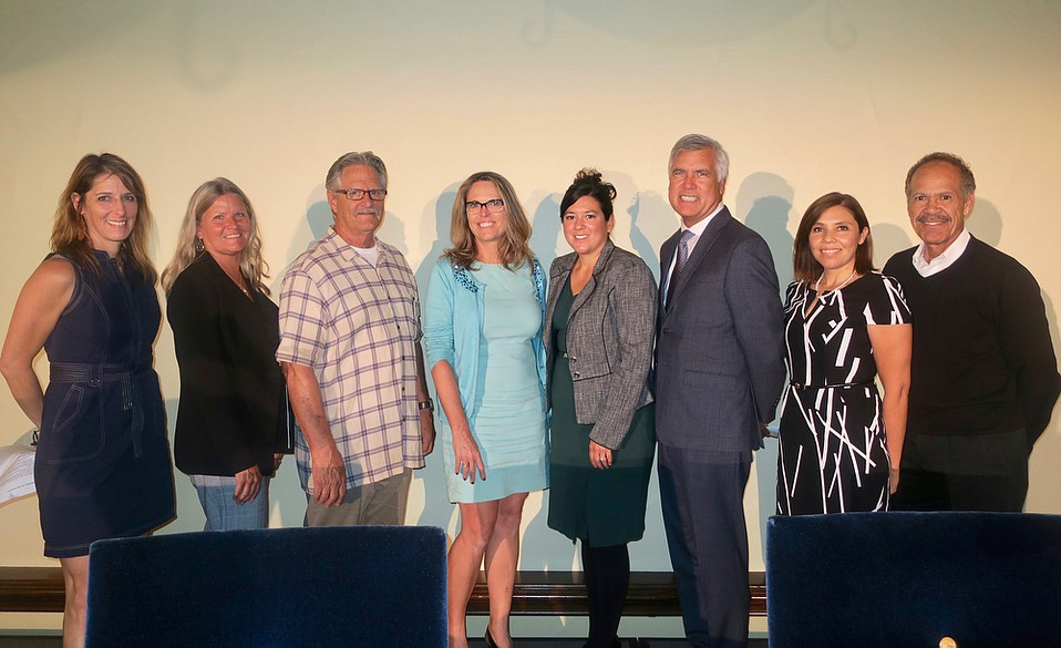 AHA! Programs Coordinator and Facilitator Melissa Lowenstein, Noah's Anchorage Executive Director Valerie Kissell, Casa Pacifica Director of Community Services Thomas Sodergren, Harding University Partnership School Principal Veronica Binkley, St. Vincent's President/CEO Rosa Paredes, Peoples' Self Help Housing President/CEO John Fowler, Santa Barbara Unified School District Community of Schools Coordinator Patricia Madrigal, and Domestic Violence Solutions Executive Director Charles Anderson.