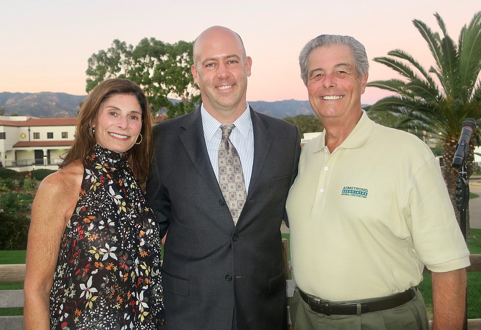 SBCC Foundation CEO Geoff Green (center) with SBCC Board past President Madeleine Jacobson and current SBCC Board President Earl Armstrong.