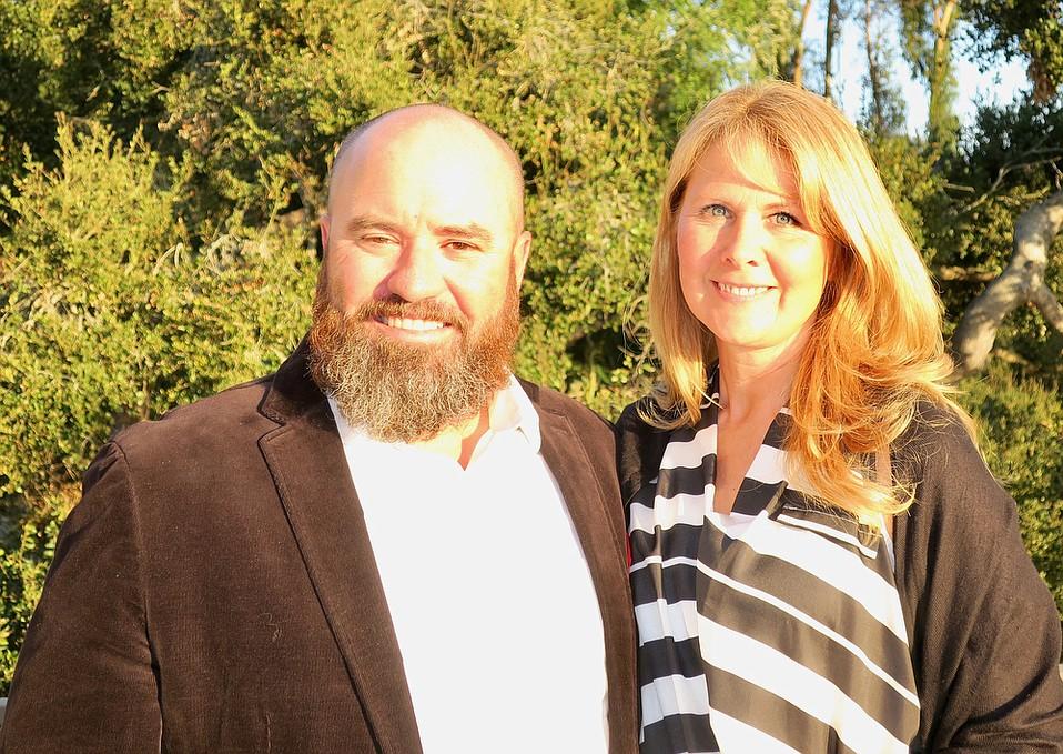 Board President Ryan Muzzy and CEO/founder Nathalie Gensac.