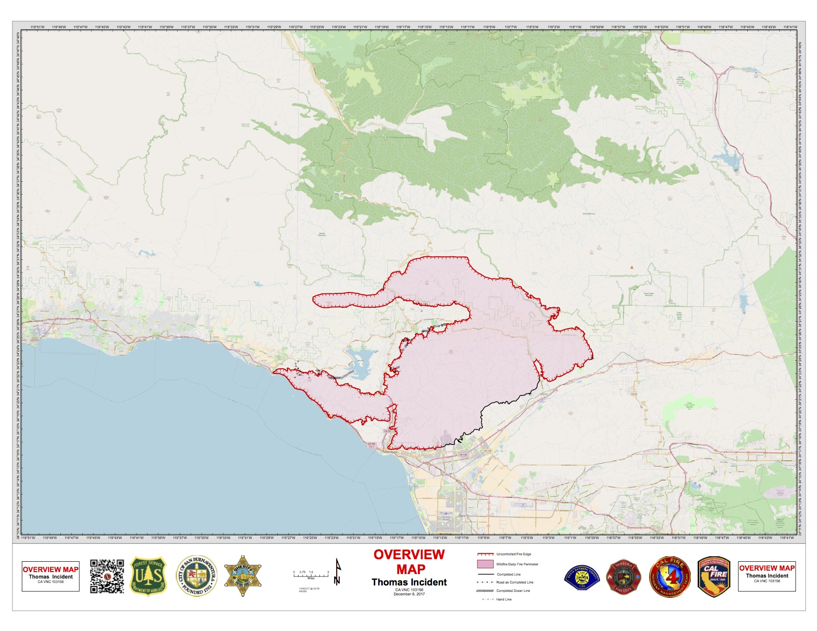 Friday Morning Update: Thomas Fire Grows to 132,000 Acres