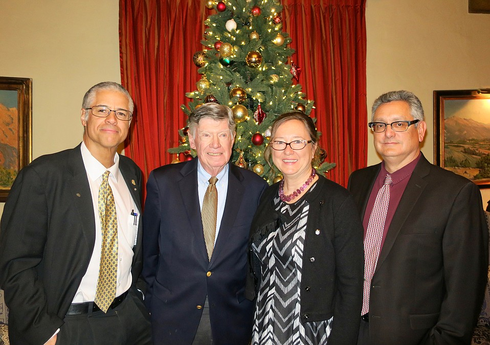 Juror Thomas Fowler, Juror John Burgee, Executive Director Tara Rizzi, and incoming President Keith Rivera.