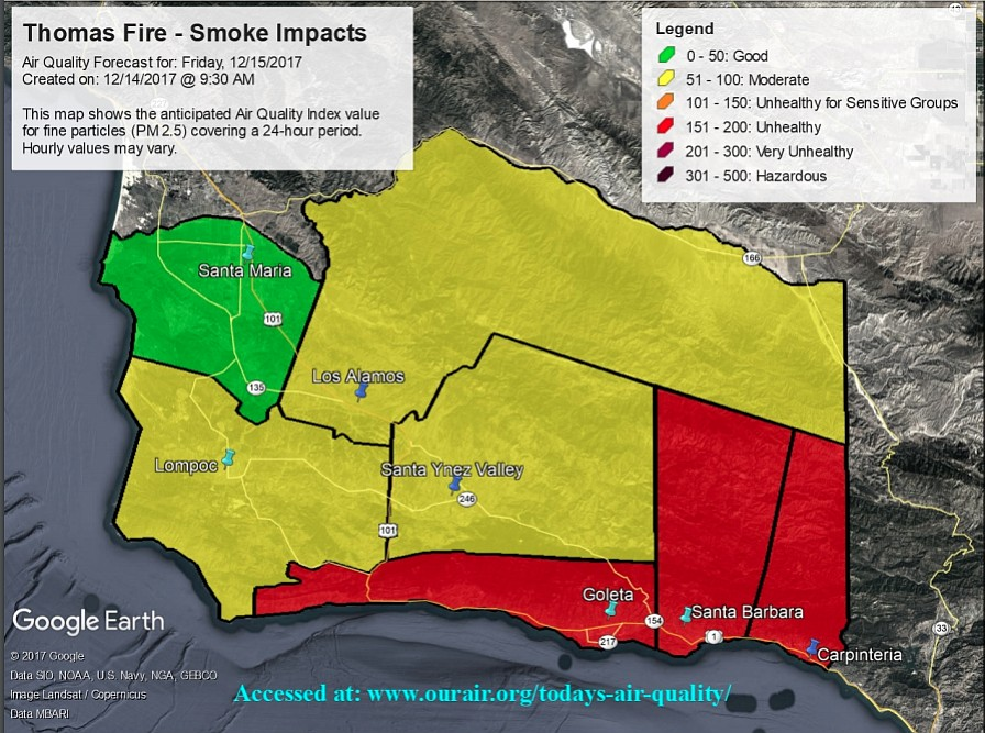 Daily Thomas Fire Smoke Forecasts Now Available