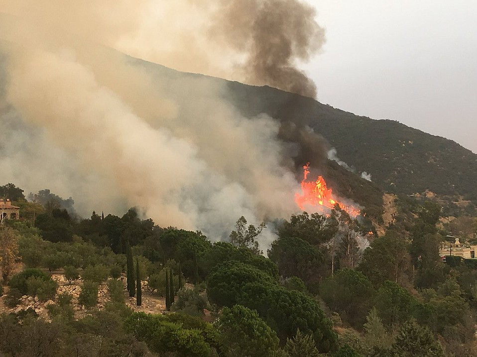With favorable weather conditions, firefighters have been on the attack for the past 48 hours, including backfiring operations such as  this one on Thursday behind the Bella Vista water plant in Montecito,